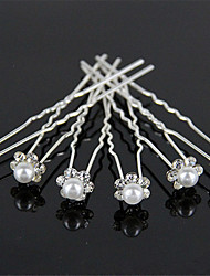 cheap -Decorations / Pins / Barrettes Hair Accessories Rhinestones / Alloy Wigs Accessories Women's 6 pcs pcs 1-5cm cm Wedding / Party Classic Jewelry Cute / Handmade