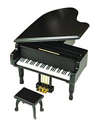 abordables -QIAOJIANG HOUSE Boîte à musique Piano Classique Enfant Adultes Enfants Cadeau Métallique Fille Cadeau