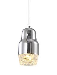 cheap -Ecolight™ Pendant Light Downlight Chrome Metal LED 90-240V Warm White / White Bulb Included / LED Integrated