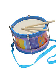 cheap -Wood Blue Child Hand Drums for Children All Musical Instruments Toy