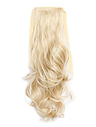 cheap -Clip In Ponytails Tie Up Synthetic Hair Hair Piece Hair Extension Curly / Wavy