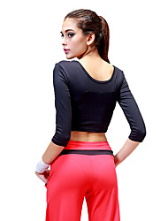 cheap -CONNY Women's Classic Elastane Zumba Yoga Running Top Half Sleeve Activewear Breathable Anti-skidding / Non-Skid / Antiskid Sweat-wicking Stretchy