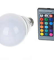 cheap -10 W LED Globe Bulbs 100-200 lm E26 / E27 A70 1 LED Beads High Power LED Remote-Controlled RGB 85-265 V / 1 pc