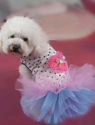 cheap -Dog Dress Dog Clothes Polka Dot Terylene Costume For Spring &  Fall Summer Women's Fashion