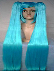 cheap -Cosplay Costume Wig Synthetic Wig Straight Straight Wig Green Red Blue Synthetic Hair Red Blue Green hairjoy