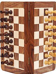 Недорогие -Настольные игры Шахматы Магнит профессиональный уровень Мини Портативные твердая  древесина Английский Детские Взрослые Мальчики Девочки Игрушки Дары / Магнитный