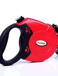 cheap -Cat Dog Leash Adjustable / Retractable Automatic Solid Colored Plastic Small Dog Black Red Blue Gray