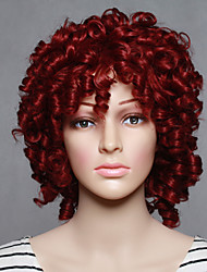 cheap -Synthetic Wig Curly Curly Wig Short Red Synthetic Hair Women's Red