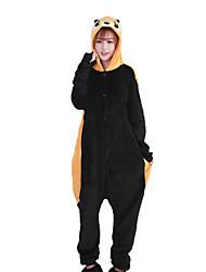 cheap -Adults' Kigurumi Pajamas Raccoon Bear Animal Onesie Pajamas Coral fleece Brown Cosplay For Men and Women Animal Sleepwear Cartoon Festival / Holiday Costumes