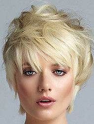 cheap -Synthetic Wig Straight Straight Wig Blonde Short Blonde Synthetic Hair Women's Blonde
