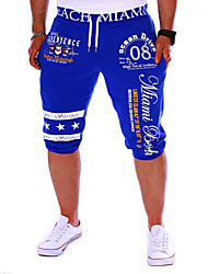 cheap -Men's Active / Basic Sports Weekend Loose / Sweatpants / Shorts Pants - Letter Print Black Gray Blue L XL XXL
