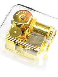 cheap -ABS Gold Creative Romantic Music Box for Gift