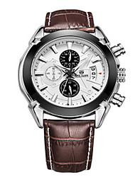 cheap -MEGIR® Men's Leather Band 30M Water Resistant Dress Watch Jewelry Wrist Watch Cool Watch Unique Watch