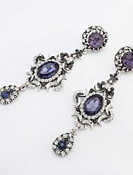 cheap -Women's Drop Earrings Vintage European Fashion Rhinestone Earrings Jewelry Blue For Party Daily Casual Work