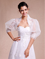 cheap -Lace / Organza Wedding / Party Evening / Casual Wedding  Wraps With Lace Shrugs