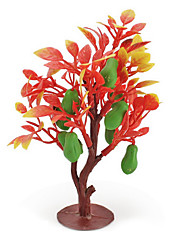 cheap -Fruit Medium Sand Table Model Simulation Tree Plant Resin Ornaments Mini Gardening Green Fleshy Fruit 2Pcs