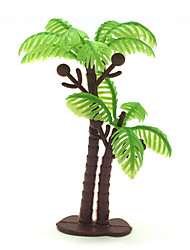 cheap -Micro Landscape Plants  Sand Table Model Simulation Tree Ornaments Meaty Palm 100Pcs Gardening