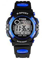 cheap -SYNOKE Kids' Wrist watch Digital LCD Calendar Chronograph Water Resistant / Water Proof Alarm Luminous Rubber Band Black