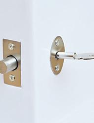 Недорогие -Однотонный Дверные замки , Конец for Шлифованный никель , Нержавеющая сталь