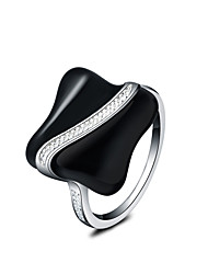 cheap -Women's Statement Ring Silver Silver Plated Statement Ladies Fashion Wedding Party Jewelry