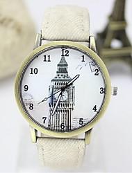 Недорогие -Жен. Муж. Для пары Модные часы Кварцевый Повседневные часы Материал ГруппаЧерный Белый Синий Красный Коричневый Зеленый Серый Розовый