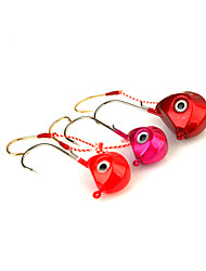 cheap -1pcs Metal Bait Jig Head Hook 40g Sinking Sea Fishing Lure Random Color
