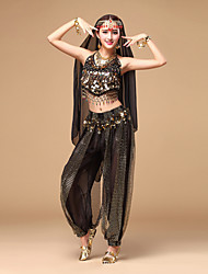 cheap -Belly Dance Outfits Women's Performance Chiffon Sequin Sleeveless Top