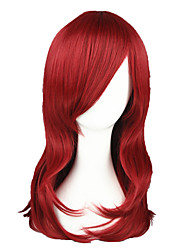 cheap -Synthetic Wig Straight Style Capless Wig Red Red Synthetic Hair Red Wig 13cm(Approx5inch) Cosplay Wig
