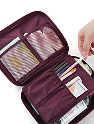 cheap -Unisex Zipper Nonwoven Bi-fold / Cosmetic Bag Solid Colored Navy Blue / Blue / Wine