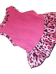 cheap -Dog Dress Dog Clothes Rose Pink Costume Cotton Heart Animal XXS XS S M L