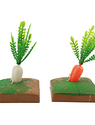 cheap -Micro Landscape  Sand Table Model Simulation Tree Plant Resin Ornaments And More Meat Mini Gardening 100Pcs