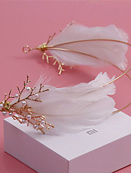 cheap -Imitation Pearl / Rhinestone / Feather Headbands with 1 Wedding / Special Occasion / Outdoor Headpiece