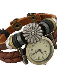 cheap -Women's Fashion Watch Bracelet Watch Digital Leather Brown Analog Bohemian - Brown