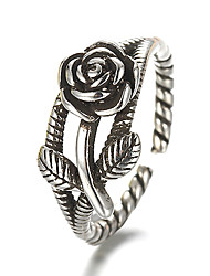 cheap -Band Ring Adjustable Ring thumb ring Silver Sterling Silver Silver Ladies Vintage Punk Daily Casual Jewelry Artisan Flower Cheap