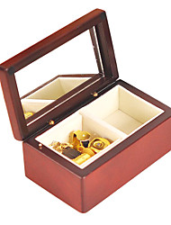 cheap -Wood Brown Creative Romantic Music Box for Gift