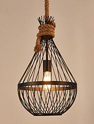 abordables -cxylight lanterne lampe à suspension en corde de chanvre lumière ambiante finitions peintes finies en métal style mini 110-120v / 220-240v ampoule non incluse / e26 / e27