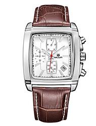 cheap -MEGIR® Men's Leather Band 30M Water Resistant Dress Fashion Wrist Watch Jewelry Cool Watch