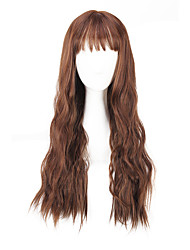cheap -daily wearing wigs brown black loose wave long length 28 inch 2016 summer fashion women wigs