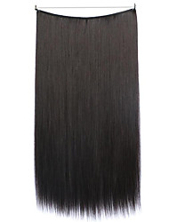 cheap -Flip In Human Hair Extensions Straight Classic Synthetic Hair Human Hair Extensions Women's Black