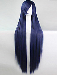 cheap -europe and the united states the new color wig 100 cm high temperature wire navy blue long straight hair wigs