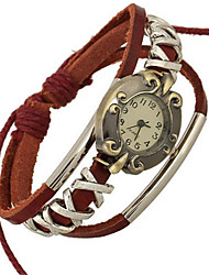 cheap -Women's Fashion Watch Bracelet Watch Digital Leather Red Analog Bohemian - Red