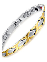 cheap -Men's Chain Bracelet Two tone Ladies Titanium Steel Bracelet Jewelry Silver For Daily Casual