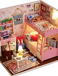 cheap -For A House Pattern Time Manual Creative Diy Cabin Model Girl Hand Building Toys For Her Birthday