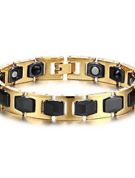 cheap -Men's Chain Bracelet Ladies European Stainless Steel Bracelet Jewelry Gold / Black For Daily Casual