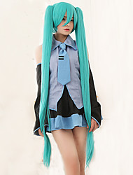 cheap -high quality vocaloid hatsune miku 2 ponytails cosplay wig Halloween