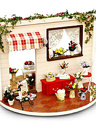 cheap -Chi Fun House Valentines Day Gifts Diy Handmade House Rose Garden Love Song