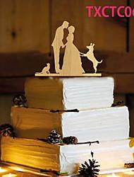 Недорогие -Украшения для торта Бабочки Классическая пара Резина Свадьба с 1 Пенополиуретан