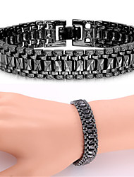 cheap -Bracelet Chunky Ladies Vintage Party Work Casual Platinum Plated Bracelet Jewelry Black / Silver / Golden For Special Occasion Birthday Gift Daily