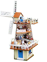 cheap -Chi Fun House Diy Hut Seventy-Seven Valentine'S Day Gift Handmade Model House Monsoon Waiting
