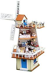 Недорогие -Чи весело дом поделки хижина семьдесят семь дней подарок ручной работы модель дом муссонный ожидания Валентина